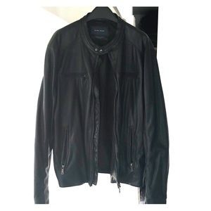 Zara black leather jacket Size XXL